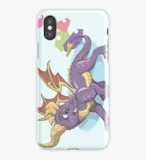 Spyro the Dragon with gems iPhone Case/Skin