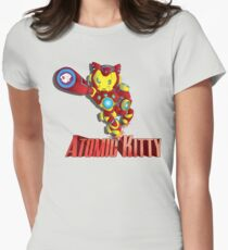 Atomic Kitty  Women's Fitted T-Shirt