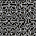 Diamond Box Geometric Black White design by ARTDICTIVE