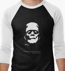 Frankenstein - The Monster - Black and White Men's Baseball ¾ T-Shirt