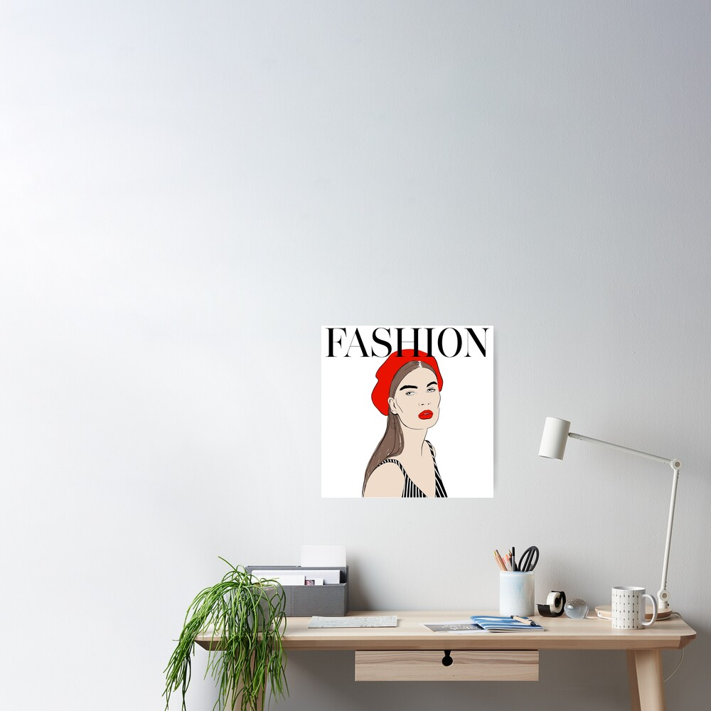 Fashion Red Art Poster