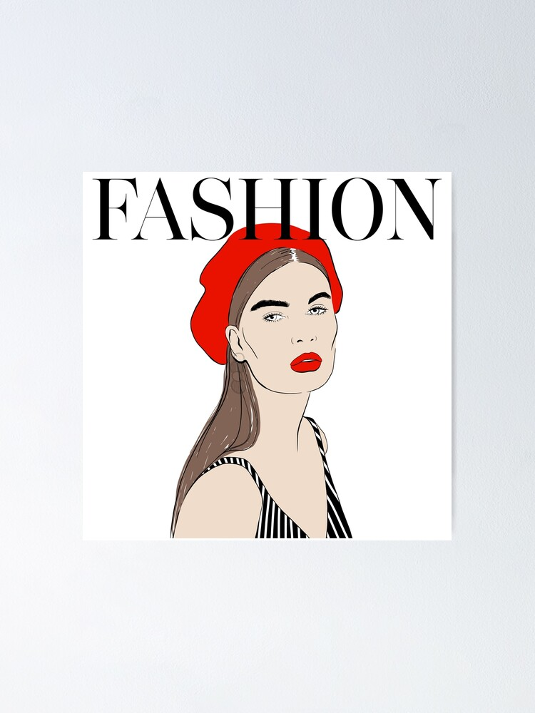 Alternate view of Fashion Red Art Poster