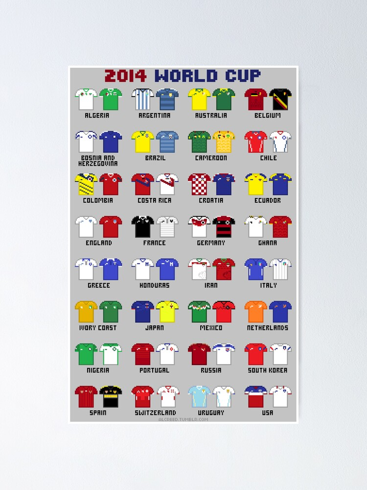 Alternate view of 8-Bit World Cup 2014 Poster