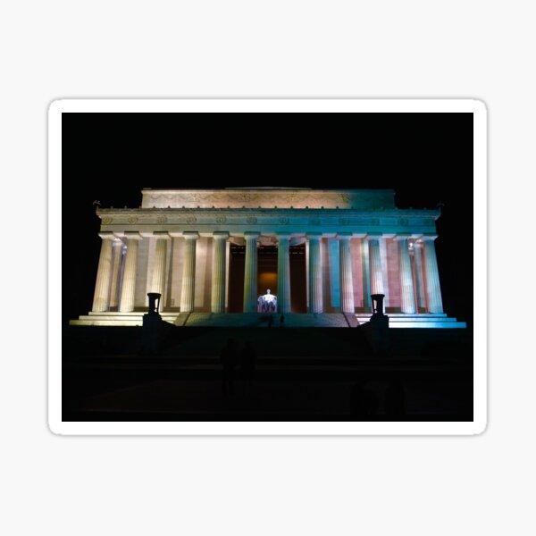 Lincoln Memorial at night Sticker