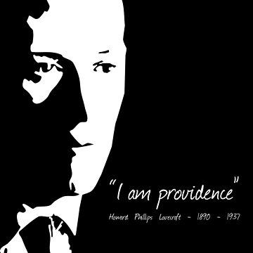 HP Lovecraft - I am Providence - Black and White by PCB1981