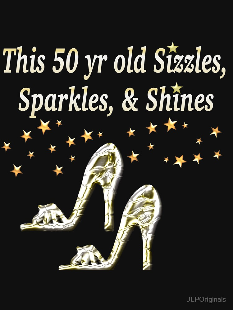 TShirtGifter Presents SPARKLING 50TH BIRTHDAY SHOE QUEEN