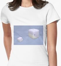 Cube Whale Blue Whale Women's Fitted T-Shirt