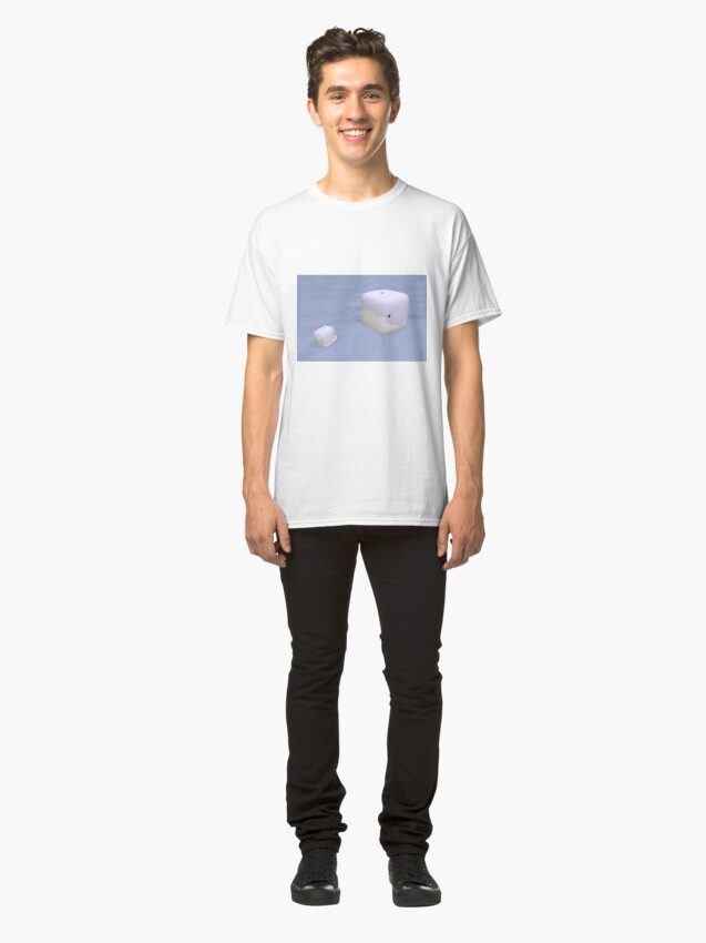 Alternate view of Cube Whale Blue Whale Classic T-Shirt
