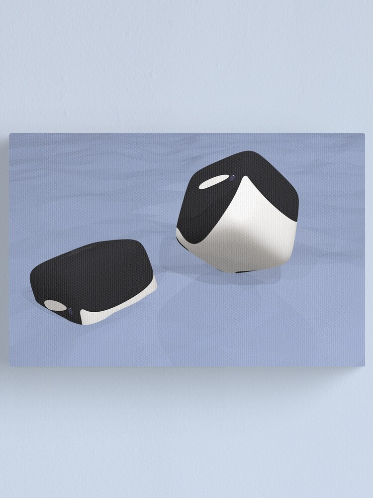 Alternate view of Cube Whale Orca Canvas Print