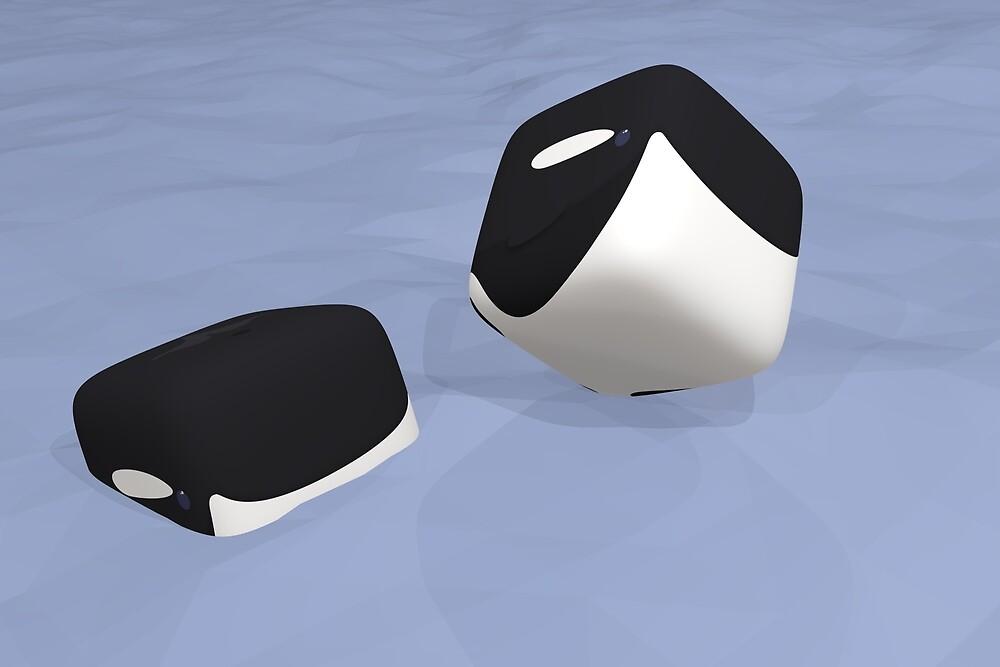 Cube Whale Orca by Josh Bush