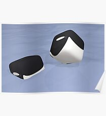 Cube Whale Orca Poster