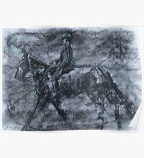 In a dusty black coat...peaky blinders art Poster