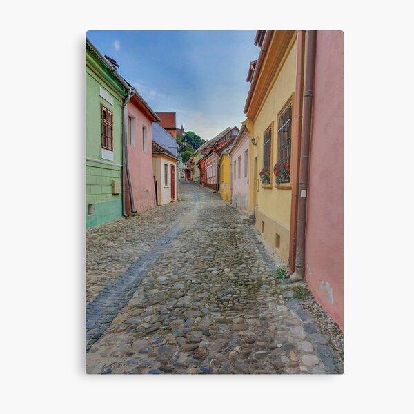 Sighisoara Old Town street Metal Print