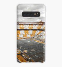 Bleed Orange und Weiß Hülle & Klebefolie für Samsung Galaxy
