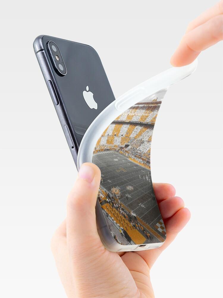 Vista alternativa de Vinilos y fundas para iPhone Sangrar naranja y blanco