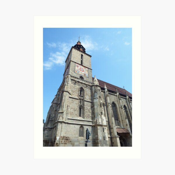 Brasov Black Church view Art Print