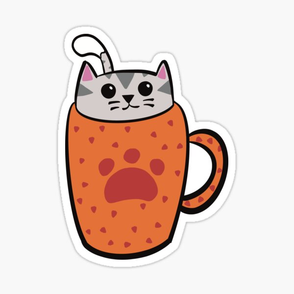Alex the Cattuccino Kitten Sticker