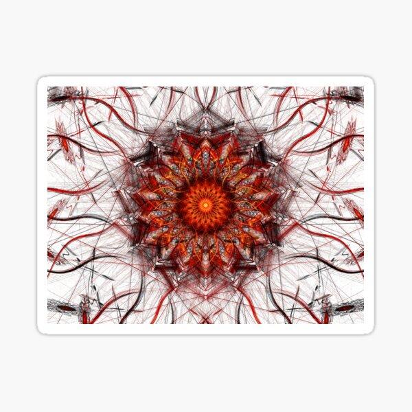 Scorching Sun - Abstract Fractal Artwork Sticker