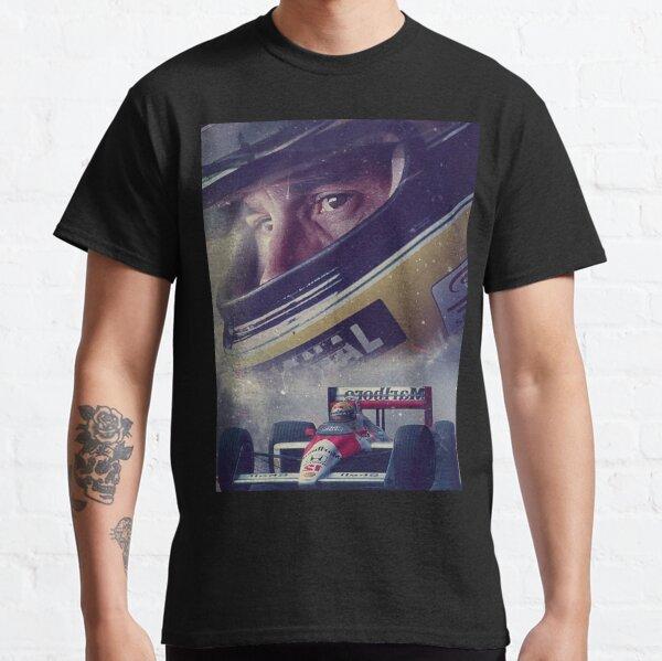 Fond d'écran Illustration Ayrton Senna T-shirt classique