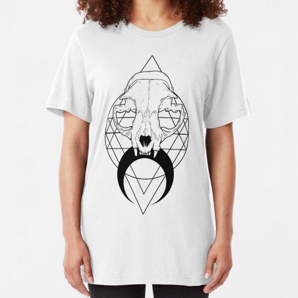 Feline Skull Slim Fit T-Shirt