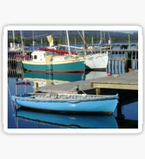 Boats on Franklin River Sticker