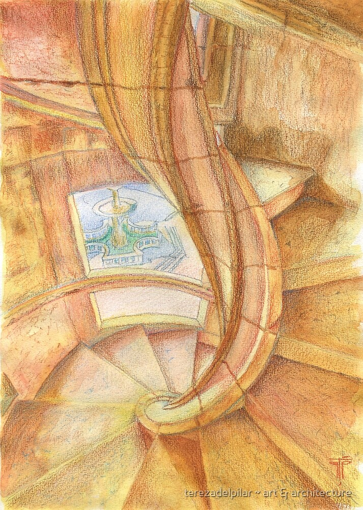 Tomar. Convent. cloister stairs by terezadelpilar ~ art & architecture