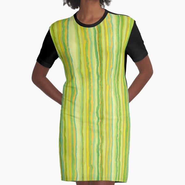 Green 303 Graphic T-Shirt Dress