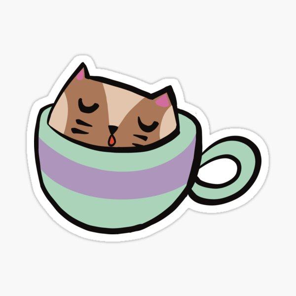 Lizzy the Cattuccino Kitten Sticker
