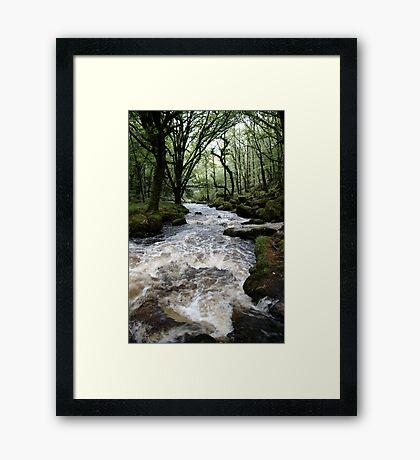 Golitha Falls - Cornwall Framed Print