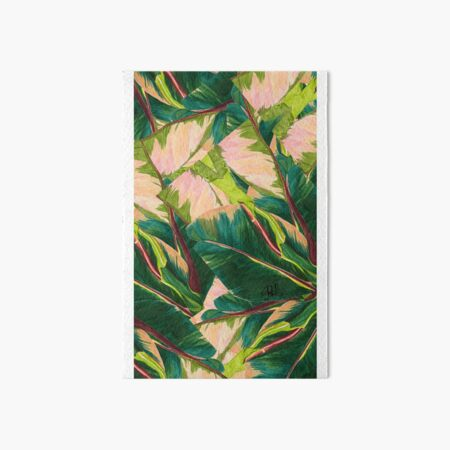 Variegated New Plant Leaf  Art Board Print