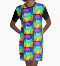 Elvis the king Of Rock & Roll Graphic T-Shirt Dress