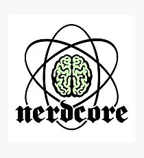 Nerdcore - Atomic Nucleus Brain Photographic Print