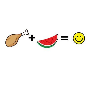 Chicken + Watermelon = :) by sandywoo