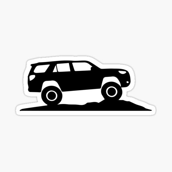 Toyota 4Runner Silhouette Decal  Sticker