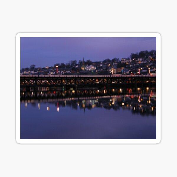 City Bridge Reflections Derry Ireland Sticker