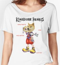 KingDOGE Hearts Women's Relaxed Fit T-Shirt