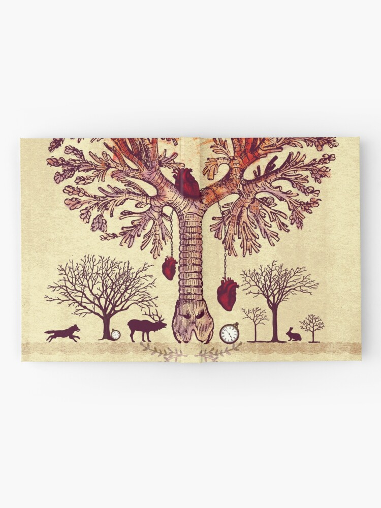 Alternate view of lung trees Hardcover Journal