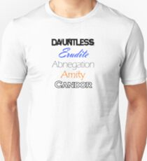 Divergent Factions Unisex T-Shirt