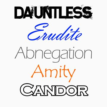 Divergent Factions by geekygirl37
