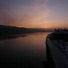 Up River - River Foyle from Craigavon Bridge Derry Ireland by mikequigley