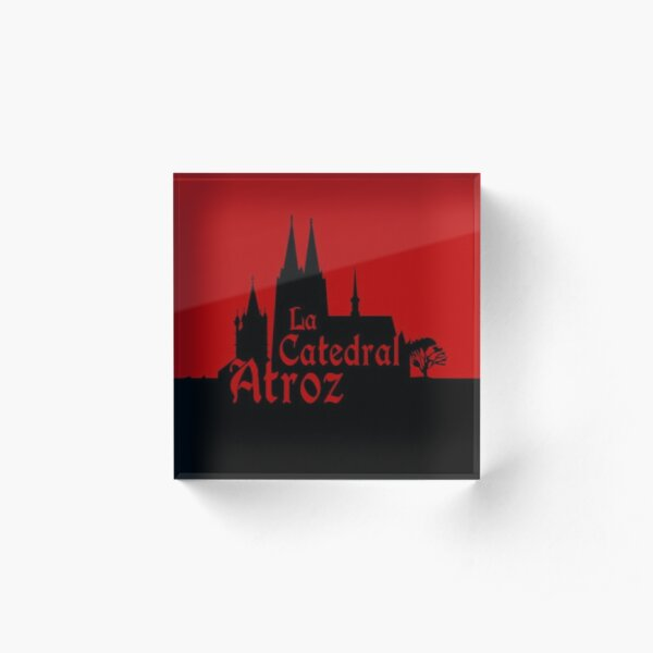 Official logo of La Catedral Atroz. Design by Asier Tro Carballo. Acrylic Block