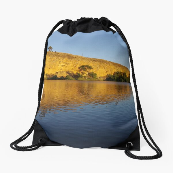 Murray River cliffs 2 Drawstring Bag
