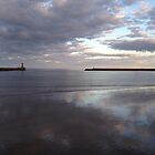 Reflections, Roker Pier by Tony Blakie