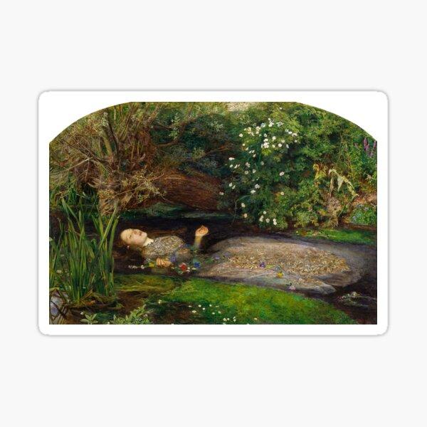 Ophelia - John Everett Millais - 1852 Sticker