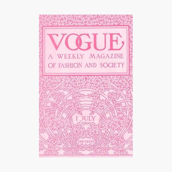 vogue magazine poster Photographic Print
