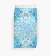 Symmetrical Pattern in Blue and Turquoise Duvet Cover
