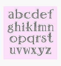Girly alphabet Photographic Print