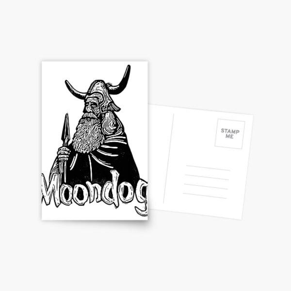Moondog linocut Postcard