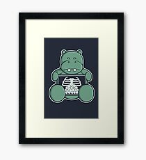 The Hippo who was hungrier Framed Print