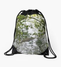 Reflets sur un lac 1 Drawstring Bag